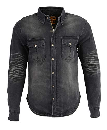 Milwaukee Performance MPM1620 Men's Armored Denim Biker Shirt with Aramid by DuPont Fibers - 3X-Large