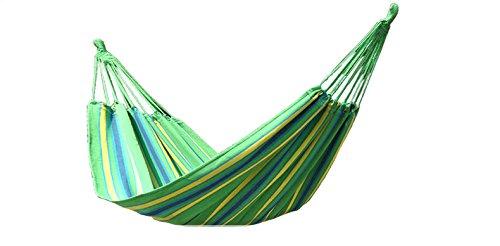 BeachandPool Hamac simple dans un sac 200 x 100 cm lavable robuste pour jardin, camping, loisirs