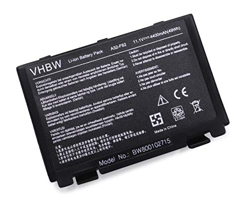 vhbw Li-Ion Akku Asus X5di, X5dij-sx039c, X5din, X5e, X5j, X65, X66, X70 Notebook Laptop wie A32-F82, A32-F52, L0690L6 - (4400mAh, 11.1V)