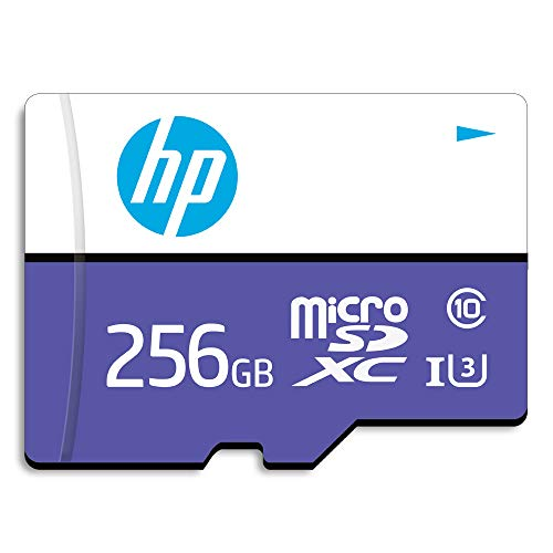 【Amazon.co.jp 限定】HP microSDXCカード 256GB パープル UHS-I(U3) 4K Class10対応 最大読出速度100MB/s、最大書込速度60MB/s 1年間保証 HFUD256-1U3-PA