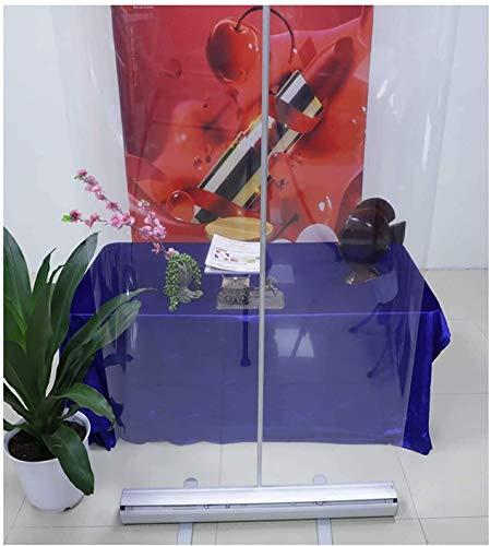Pantalla de protección antiestornudo, pancarta de rodillo transparente, particiones transparentes para escuelas, mostradores de tienda, salones de uñas, restaurantes y bares (color: 60 x 160 cm)