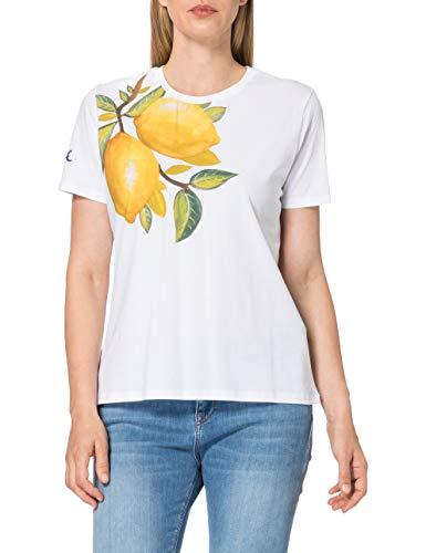 Desigual TS_Lemons Camiseta, Blanco, S para Mujer