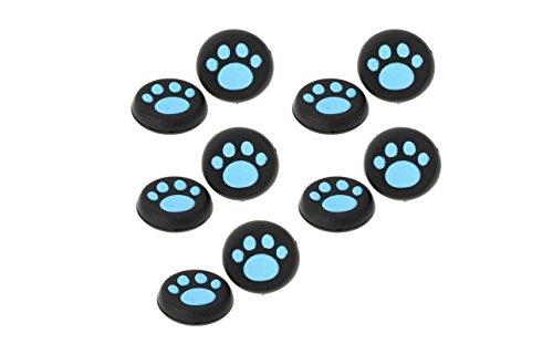 Doyime Lot de 4 grips en caoutchouc pour manette sans fil Sony PS4/PS3/XBOX 360/XBOX One 4 pièces - Bleu.