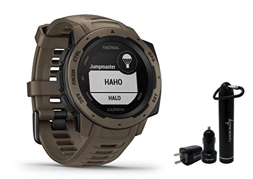 Save %16 Now! Garmin Instinct Rugged GPS Watch and Wearable4U Ultimate Power Pack Bundle (Tactical Coyote Tan)