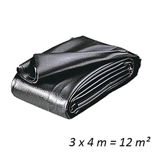 Heissner Teichfolien Zuschnitt PVC 0,5 mm 3 x 4 m = 12 qm