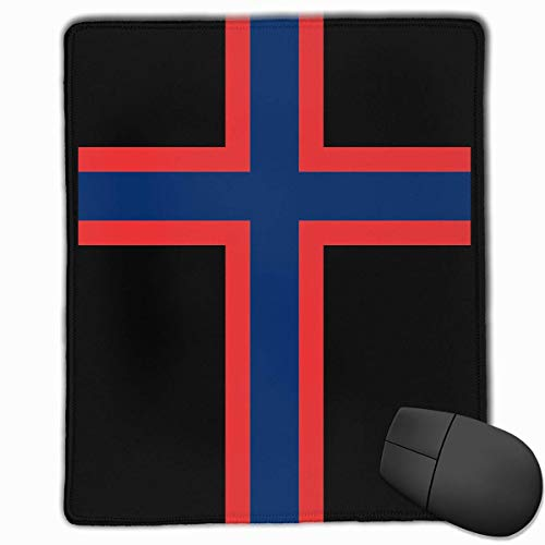 Accessori per computer in mousepad di gomma rettangolare antiscivolo bandiera norvegese 18 x 22 cm