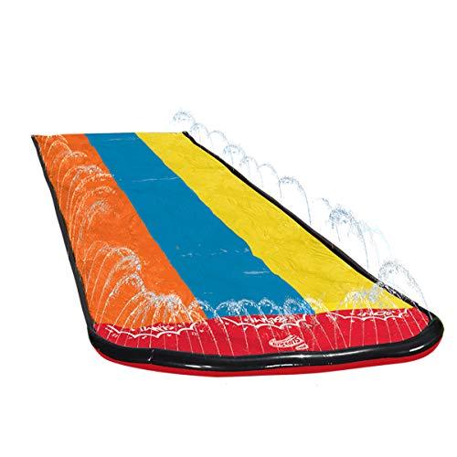 Wham-O 64121 Slip N Triple Racer with Slide Boogie Board, Multicolor, 16' Length