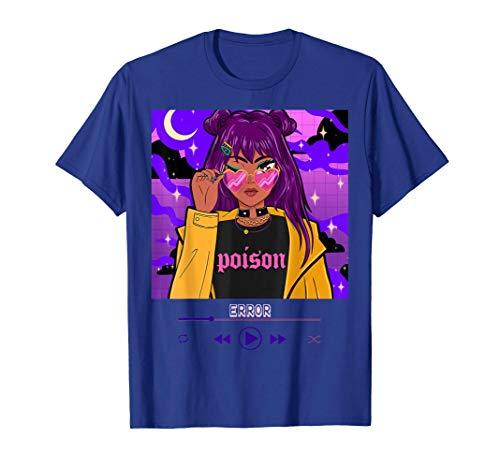 Chica Anime Estética Travieso Chica Anime Luchadora Camiseta