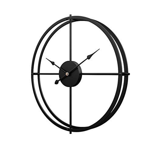 Schlichte Wanduhr, Uhr Wand 40CM Retro Dekorative Geräuscharm Lautlos Wanduhr für Wohnzimmer, Schwarz