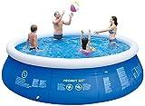 Piscina sobre Suelo de fácil instalación, con Bomba de Aire- Redonda Nadar Piscina- 4800 litros- 300 × 76 cm, hasta Ocho Personas,Azul Frame Pools