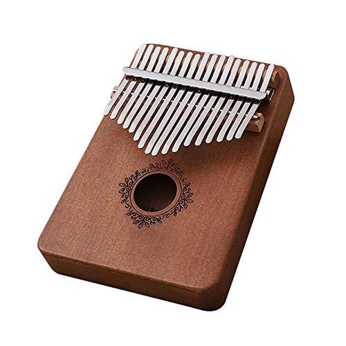 Kalimba, Daumenklavier 17 Keys Kalimba Daumenklavier African Daumen Finger Klavier Holz Portable Keyboard Musikinstrument (Color : Coffee flowers)