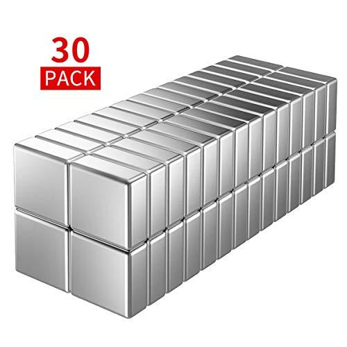 Temporaryt Neodym Magnete 30 Stück Magnets 10x10x4mm- Ideal für Magnettafel Whiteboard Magnetboard Pinnwand Nicht Glasmagnettafeln- mit Aufbewahrungsbox
