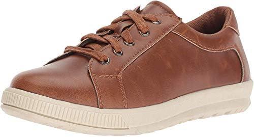 Deer Stags Boy s Kane Memory Foam Casual Dress Comfort Sneaker Dark tan Cream 5 Medium US Big product image