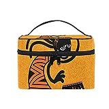 Bolsa de cosméticos de maquillaje Hombre de baile étnico africano Almacenamiento portátil con cremallera