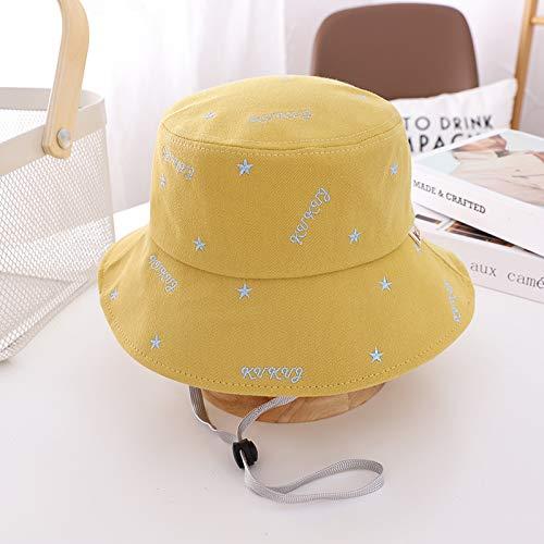 wtnhz Sombreros para niños, Estampado de Cinco Estrellas, Sombreros de Pescador para bebés Masculinos y Femeninos, Sombreros de Lavabo para niños Frescos y a Prueba de Viento, Marea de Estilo Coreano