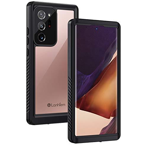 Lanhiem Samsung Note 20 Ultra 5G Impermeable Funda Compatible con Sensor de Huellas Carcasa Resistente Al Agua IP68 [Protección de 360 Grados], Carcasa para Samsung Galaxy Note 20 Ultra,Negro