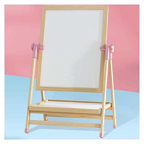 Caballete de dibujo magnético de doble cara, caballete plegable de madera para niños, caballete de pintura para niños y manualidades, dibujo, escuela en casa (color: rosa, tamaño: 100 cm)