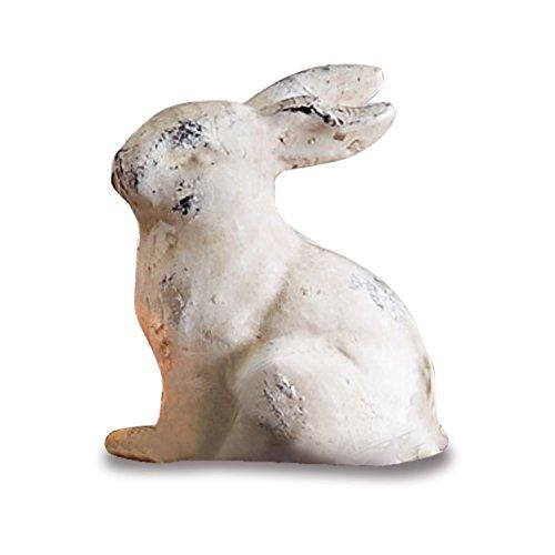 Loberon Deko-Hase Tipper, Osterdeko, Terrakotta, H/B/T ca. 21/11 / 15 cm, beige