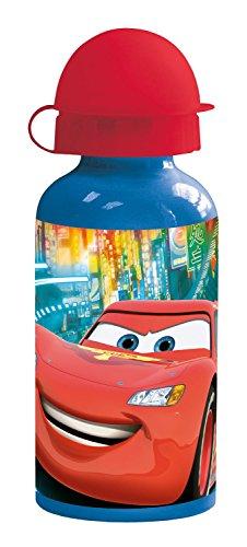 POS 24451 - Trinkflasche mit Disney Pixar Cars Motiv, aus Aluminium, bpa- und phthalatfrei, Fassungsvermögen ca. 400 ml, ideal für Unterwegs, Schule und Sport, für Jungen und Mädchen