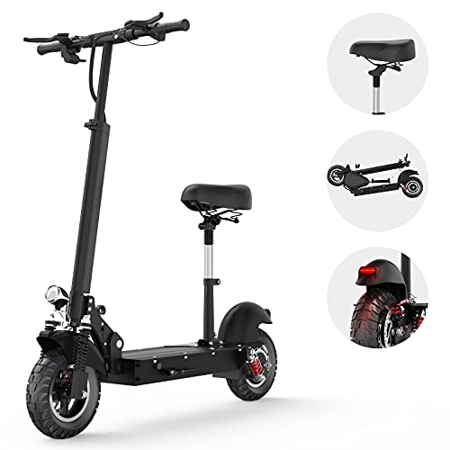TODIMART Electric Scooter for Adults, Powerful 350/500W Motor Max Speed 28 MPH (48v20Ah-1000w)
