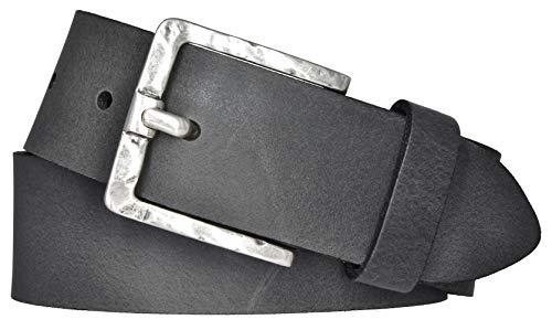 Mytem-Gear Damen Leder Gürtel Belt Ledergürtel Rindleder 40 mm Damengürtel (90 cm, Grau)
