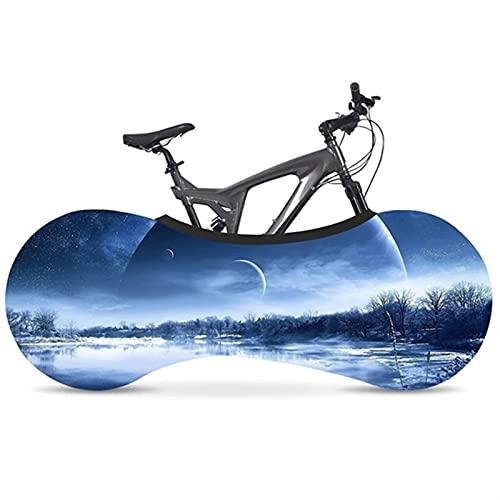 HGDQ Cubierta de Bicicleta Cubierta de Polvo de Bicicleta Tela elástica Bicicleta de Carretera Tapa Protectora de neumáticos de Interior 700C 26'-28' Accesorios de Bicicleta (Color : 01)