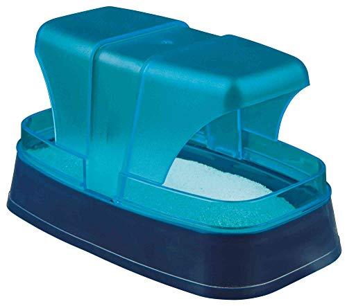 TRIXIE Sandbad für Hamster und Mäuse, 17 cmx 10 cmx 10cm, dunkelblau/türkis