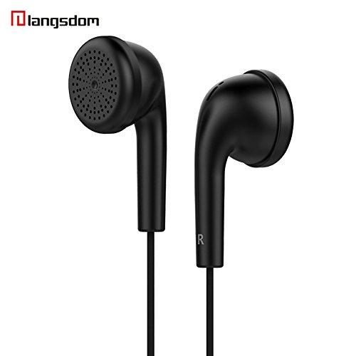 Kopfhörer ohrhorer kabellos 3,5 mm kolben in-Ear Stereo ohrhörer kopfhörer Headset Für iPhone (Schwarz)