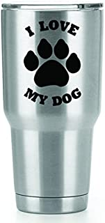 I Love My Dog Vinyl Decals Stickers ( 2 Pack!!! ) | Yeti Tumbler Cup Ozark Trail RTIC Orca | Decals Only! Cup not Included! | 2 - 3 X 2 inch Black Decals | KCD1154