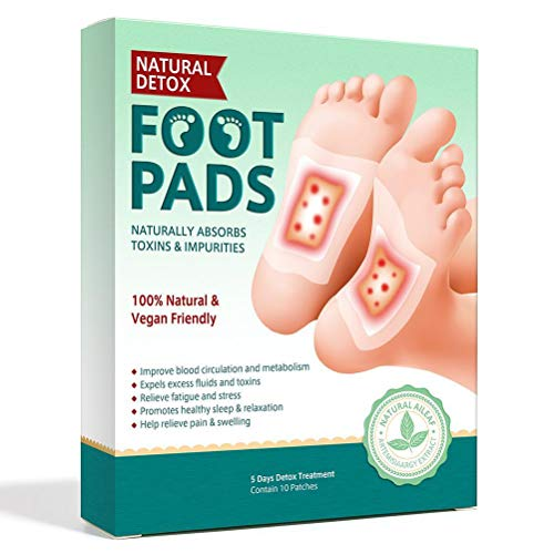 HAOCAI Detox Foot Patches, 10Pcs Natural Body Toxins Removal Deeper Sleep Foot Pads, All Natural & Premium Ingredients for Best Relief & Results Apply Sleep