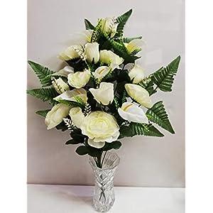MAXIA MARKET – Ramo de Flores Artificiales, para hogar y Cocina decoración, o Cementerio. Mesa Decoración de la Boda…