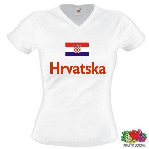 Hrvatska / Kroatien Damen T-Shirt TrikotS