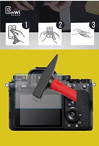 EnWi | 2X Panzer-Glas-Folie 9H Bildschirm-Schutz-Folie für FujiFilm GFX 100S