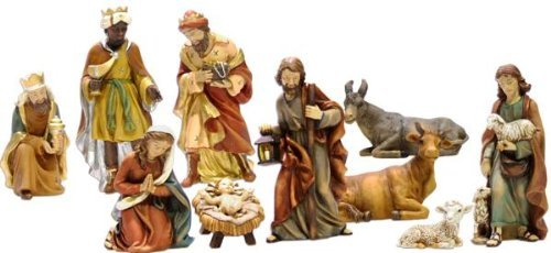 Krippenset, Figurenset, 11tlg, Höhe 15cm, handbemalen