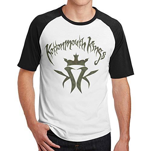 Kottonmouth Kings Crown of Buds Männer Kurzarm T-Shirt Fitness T-Shirt Tees Kontrast(M,Schwarz)