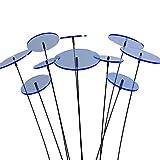 SUNPLAY 'Sonnenfänger-Scheiben in BLAU, 10 Stück im Set, 5 Stück à 7 cm und 5 Stück à 10 cm Durchmesser + 35 cm Schwingstäbe