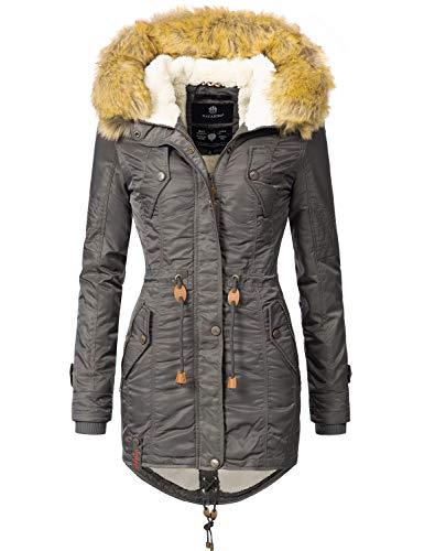 Navahoo Damen Winter Mantel Winterparka La Viva Anthrazit Gr. XS