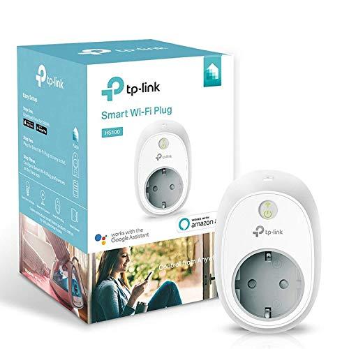 TP-Link HS100 - Enchufe inteligente para controlar sus dispositivos desde cualquier lugar, sin necesidad de concentrador, funciona con Amazon Alexa y Google Home e IFTTT