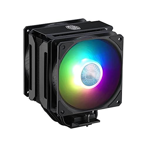 Cooler Master MasterAir MA612 Stealth Dissipatore CPU ARGB - Ventole Push-Pull SickleFlow 120 V2 ARGB, Matrice 6 Tubi Calore, RAM Illimitata, Controller Incluso - Presa Socket Compatibilità Universale