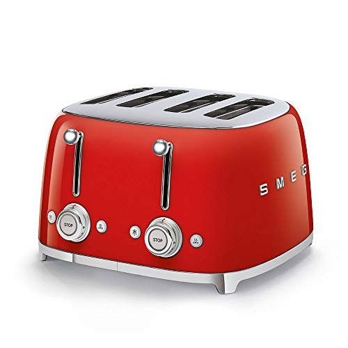 SMEG TSF03RDEU | Broodrooster 4 plakjes 50's Style | Kleur : rood
