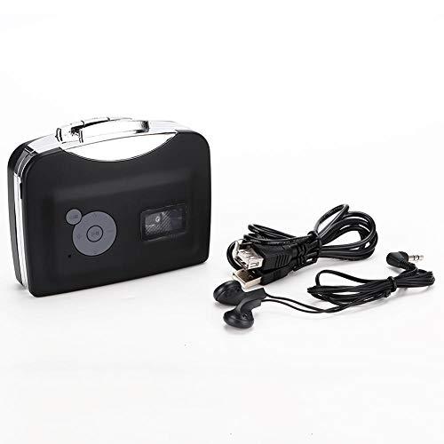 Lazmin Reproductor de Casete portátil, Mini Cinta de Mano USB a PC Casete a Cinta Digital MP3 Reproductor de MP3 Convertidor Captura con Auriculares