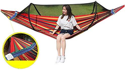 Xyy Outdoor-Anti-Spitze Hängematte mit Moskitonetz, Leichtem Camping Hammock for Angeln Abenteuer mit Rucksack und Reisetasche Sleeping (Color : B, Size : Single hammock-270×120cm)