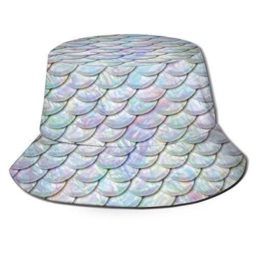 Sombrero de Sol de ala Ancha para Hombre a Escala de pez Colorido, Gorra de Safari de Pesca para Senderismo al Aire Libre, Acampada, jardinería, Trabajo en el Campo