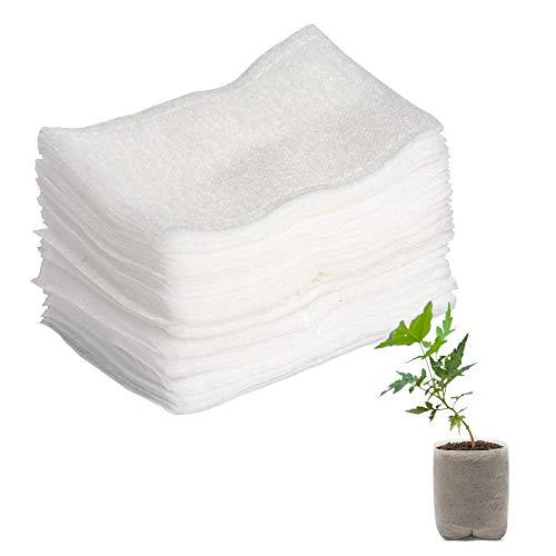 ITME Bolsas de Vivero No Tejidas 100 Piezas Bolsa de Plántulas de Plantas Biodegradables Ecológicas Bolsa de Tela para Guardería en Maceta para Suministro de Jardín en Casa