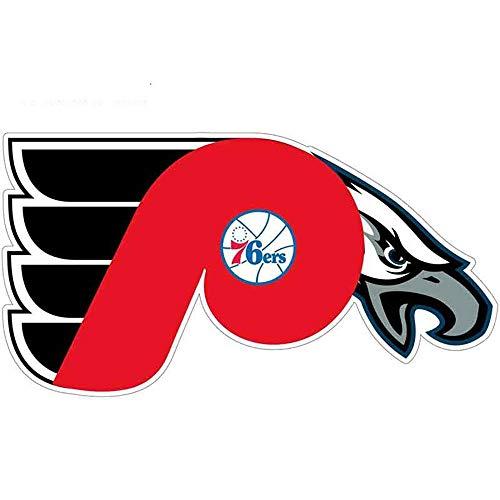 13 cm x 6,9 cm für Philadelphia 76Ers Flyer Eagles Aufkleber Aufkleber Gtr Dekoration Hip Hop Auto Assessoires
