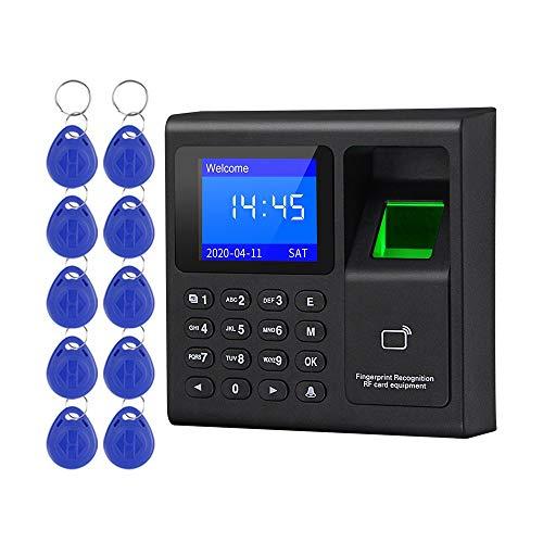 LIBO Huella digital biométrica inteligente Tiempo de asistencia Máquina Registrador de reloj de tiempo Dispositivo de registro de empleados Teclado de control de acceso con llaveros RFID