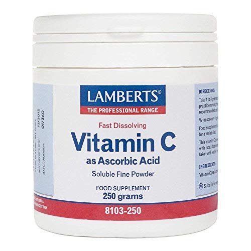 Lamberts Vitamin C Ascorbic Acid - 250g Powder