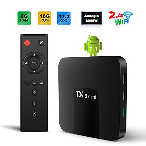 Sofobod TX3 MINI 8.1 Smart TV BOX 2GB/16GB 4K TV Amlogic S905W Quad core H.265 Decoding 2.4GHz WiFi - 2GB/16GB