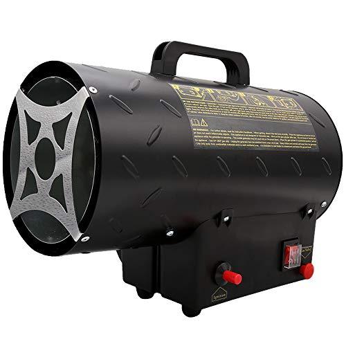 15 kW Gasheizer für Gasflasche Gasdruckregler 700mbar Gasschlauch Gasheizofen Gasheizgerät Gasheizgebläse Innenbereich, Camping