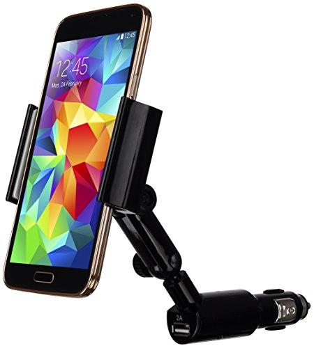 LUXA2sigaretta Cigar clip universale rotazione di 360gradi per auto supporto, colore nero